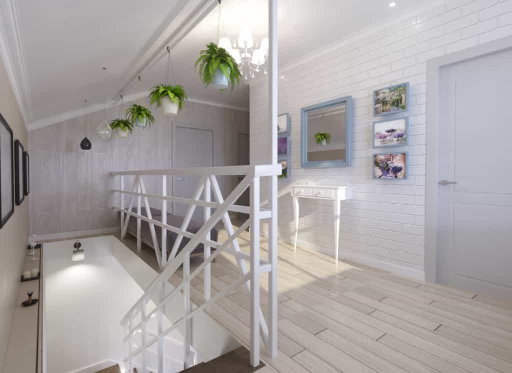 дизайн интерьера загородного дома фото