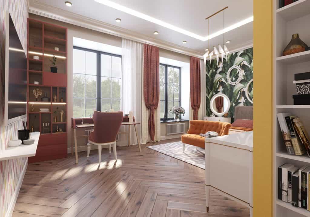 заказать дизайн интерьера загородного дома